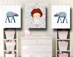 >20 cutest girl s nursery artwork ideas shelterness star wars baby nursery wall art