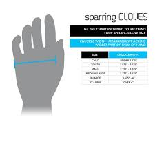 Century Sparring Gear Size Chart Size Charts Guides Century Martial Arts Fitness