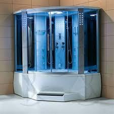 One Piece Corner Shower Stalls | Luxury Corner Steam Shower Enclosure Units,  Shower Stalls,