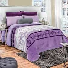 purple flowers comforter luxury bedding
