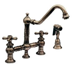 vintage iii kitchen faucet two cross handle swivel spout side spray oil rubbed kohler venetian bronze
