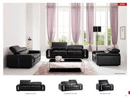 Modern Black Living Room Furniture Furniture Modern Leather Sofa Set With Black Floor Lamp For White