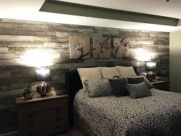 dark wood accent wall bedroom ideas