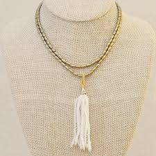 Lulu Designs Necklace Lulu Designs Moonstone Tassel Necklace