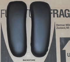 genuine oem herman miller aeron chair leather armrest covers pair arm cushions