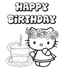 Small Picture Happy birthday coloring pages hello kitty ColoringStar