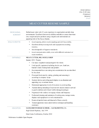 Cosy Plant Operator Resume Template On Meat Cutter Resume