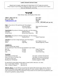 Resume Modeling Acting Format No Experience Best Of Fair Sample Ine