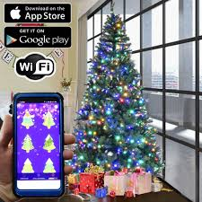Christmas Tree With Changing Lights Details About Christmas Tree Rgb Led Lights 100pc Wifi App Enabled Color Changing String Light