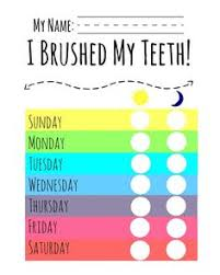 Teeth Cleaning Chart Free 20 Best Printable Brushing Charts For Kids Images Charts