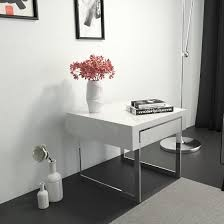 casa side table in white gloss with