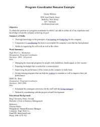 Best Program Coordinator Cover Letter Sample Contemporary Resume