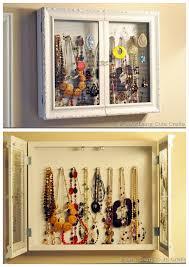 Diy Jewelry Cabinet True Blue Me You Diys For Creatives O Truebluemeandyou Diy