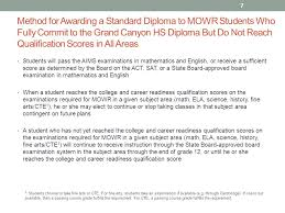 move on when ready standard diploma provision ppt  method for awarding a standard diploma to mowr students who fully commit to the grand canyon