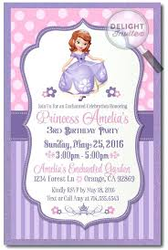 First Birthday Invitations Free Printable Sofia The First Personalized Invitations Orgullolgbt