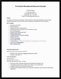 Front Desk Resume Jvwithmenow Com