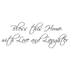 bless this home with love and laughter wall words vinyl wall art decal on bless this home wall art with bless this home with love and laughter wall words vinyl wall art