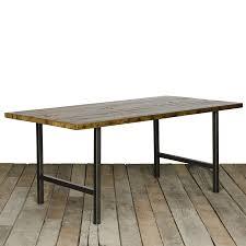 industrial reclaimed wood dining table  farmhouse table