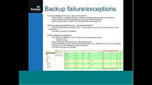 Kaseya Support TechJams: Data Backup ...