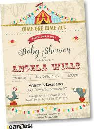 baby shower invitations chic circus baby shower invitations design as diy baby shower invitations