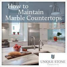 maintaining marble countertops