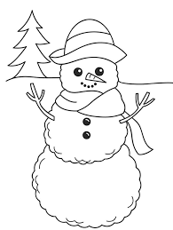 Small Picture Winter Coloring Page Smiling Snowman Winter Coloring pages of