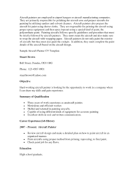 Welder Resume Examples Awesome Painter Resume Sample Top 8 Aircraft