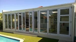 aluminium stacking door with windows folding doors solar e glass