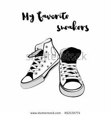 converse shoes logo vector. hand drawn illustration with shoes. hipster sneakers in graphic for logo, poster converse shoes logo vector