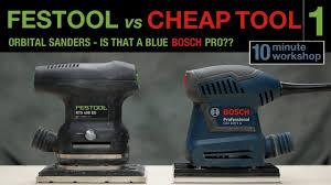 orbital vs sheet sander. 1 of 3: festool vs cheap tool - orbital sanders sheet sander s
