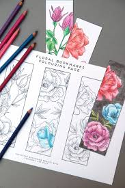 Other free bookmarks to colour and make. Free Printable Colouring Page Bookmarks Gathering Beauty