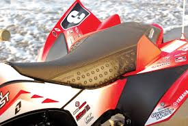 quadtech s gripper seat helps out a lot in keeping riders in their saddles you