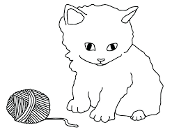 Cat Coloring Page Roomhiinfo