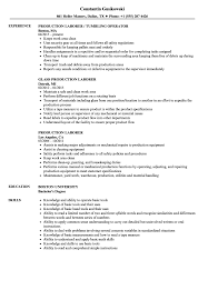 Resume Sample Laborer Objectives Labour Job Pipeline Construction