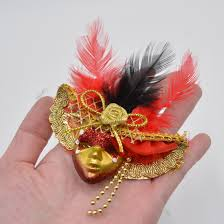 Large Masquerade Masks For Decoration Masquerade Mini Masks Fridge Magnet Sticker Mardi Gras Party 49