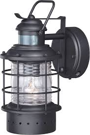exterior lights motion detector. vaxcel t0185 hyannis nautical textured black outdoor motion sensor light sconce w/ photocell. loading zoom exterior lights detector :
