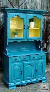 teal color furniture. Vintage Teal And Lightning Bug Yellow Hutch By FunCycled Www.funcycled.com Color Furniture