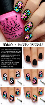 Bright Flower Nail Art Design Tutorial 15 Adorable Floral Nail Tutorials For Spring Summer