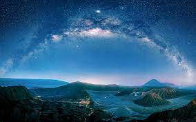 Wallpaper Java, volcano, night, starry ...