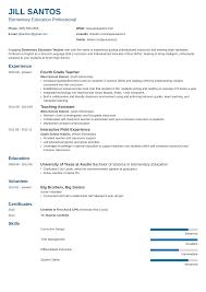 Teacher Resume Template Guide Examples For Teaching Jobs How