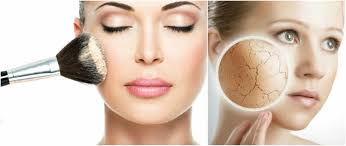 how to apply foundation to dry and flaky skin