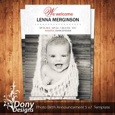 Free Baby Announcement Templates Photoshop - Gecce.tackletarts.co