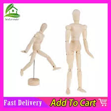Sealavender 5 5 8 12 Inch Wooden Manikin Artist Drawing Manikin Sketch Art Manikins Articulated Mannequin With Stand Base And Flexible Body Great For