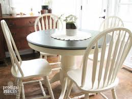 farmhouse table makeover with homeright sprayer prodigal