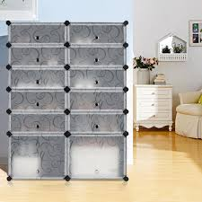 Amazon.com - LANGRIA 12-Cube DIY Shoe Rack, Multi Use Modular ...