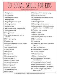 Social Skills Chart Social Skills For Children Chart Do It And How