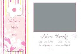 Baby Birth Announcement Templates Make Your Own