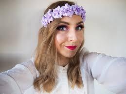 Lila Květinová čelenka Do Vlasů Věneček