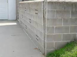 a retaining wall separating from the adjoining walls in somerset