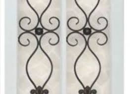 iron and wood panel wall art in white bed bath beyond on iron and wood panel wall art in white with 16 wood and iron wall decor exceptional iron gate wall decor 6